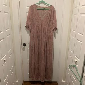 BRAND NEW WITH TAGS Pink Blush Maxi Dress!